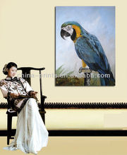 Modern Wall Parrot Animal Canvas Art Paintings For Whole Sale
