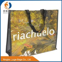 recyclable laminated pp non woven cheap printed shopping bags