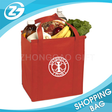 for Promotion Logo Print Reinforced Handle Bulk Wholesale Non Woven Reusable Grocery Tote Bag