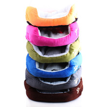 Candy Color Paw Print Pet Dog Beds Soft Berber Fleece Winter Warm Puppy Cushion 50*40cm