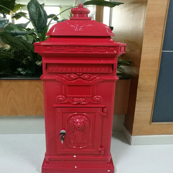 cast aluminum mailbox or post box
