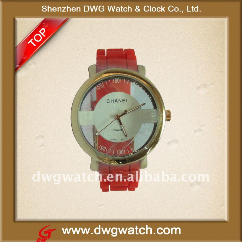 2012 Attractive Silicon Transparent Wrist Watch For Lady