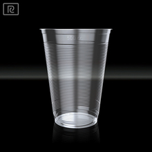 AO500-P PP 16oz 500ml disposable customized transparent reusable plastic cup