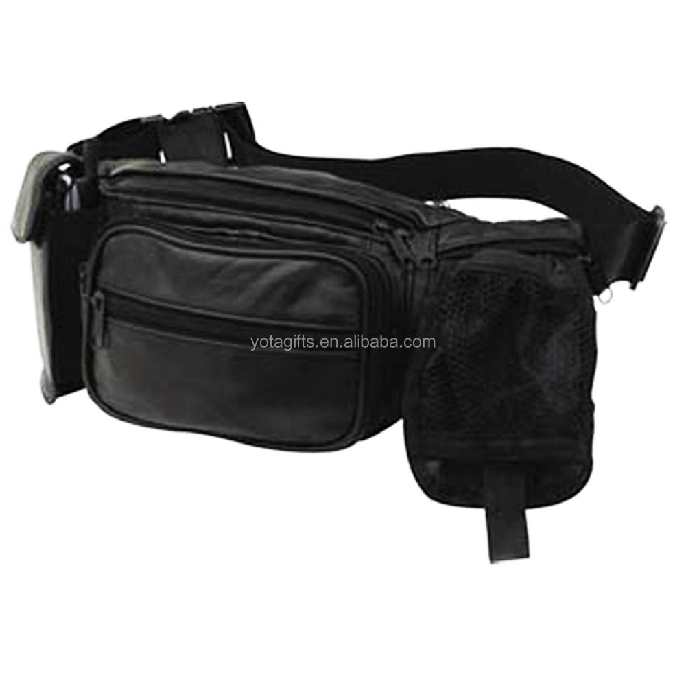 Black nylon belt bag waist bag waist pack