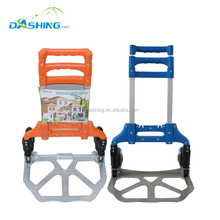 Stainless steel folding hand trolley , hand truck
