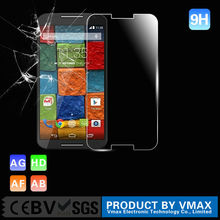 Wholesale cell phone accessories full cover 9h tempered glass screen protector for motorola droid