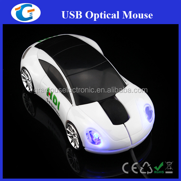 3D Optical Fashionable Car Laptop Mouse For Home Office Use