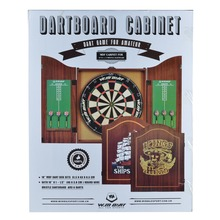 "Cabinet Dartboard Set 18"" WMD cabinet designed for a full size dartboard with scoreboards and dart holers"