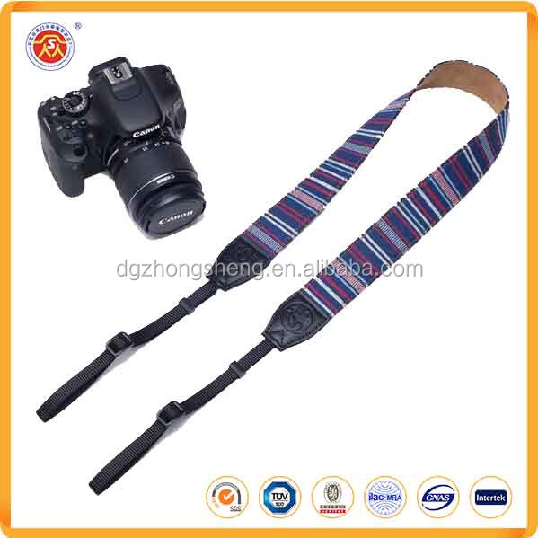 Stripped camera strap, camera strap quick release with adjustable plastic buckle