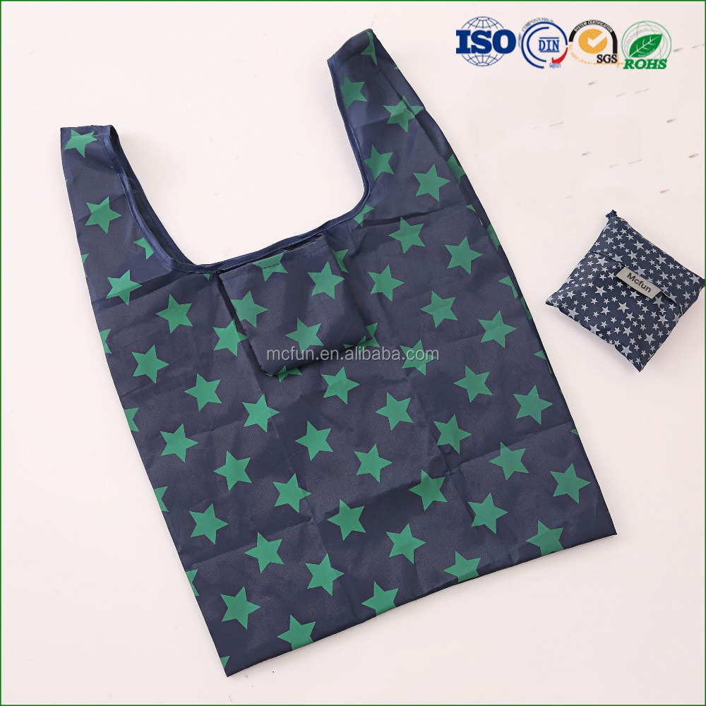 Reusable Shopping Bag Foldable cotton Tote Eco Grab Bag Handles Grocery