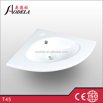 T45 corner ceramic sinks wash basin