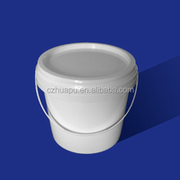 3 litre plastic bucket with lid and handle for industrial chemical