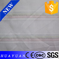 Plain Style stripe Shirting Fabric polyester/Cotton