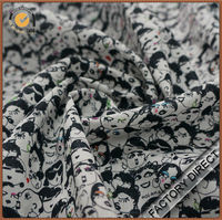 Factory Direct digital printed cotton voile fabric in high quality custom design