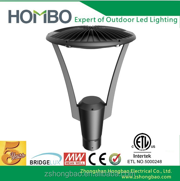 Improving nighttime visibility pole garden area light led
