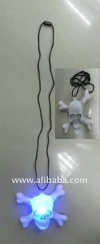 Flashing Skull Necklace