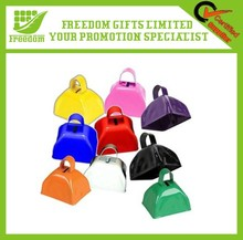 3/5 Inches Promotional Personlized Logo Metal Cowbell With Strap