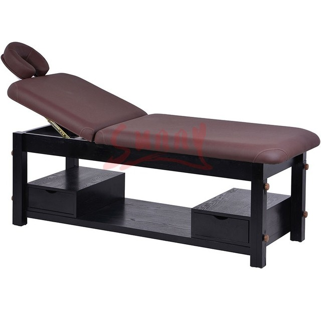Stationary Wooden Massage Table 2 Fold Wood Massage Bed