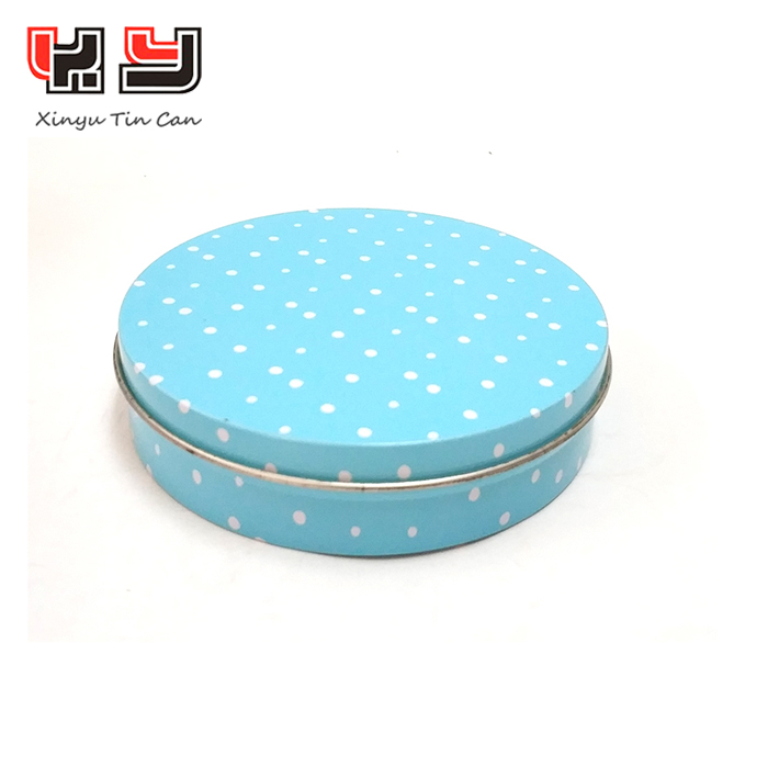 wholesale custom round candy cookie tin gift box