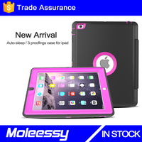 Factory wholesale smart leathe pc tpu combo case shockproof case for ipad pro protective cover for ipad pro