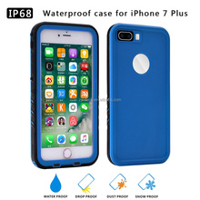 Latest 360 full degree protective mobile case waterproof case for iphone 7 plus with dust-proof and shock-proof