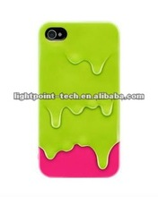 3D Melt Ice Cream Hard Back Case Cover For iPhone 4