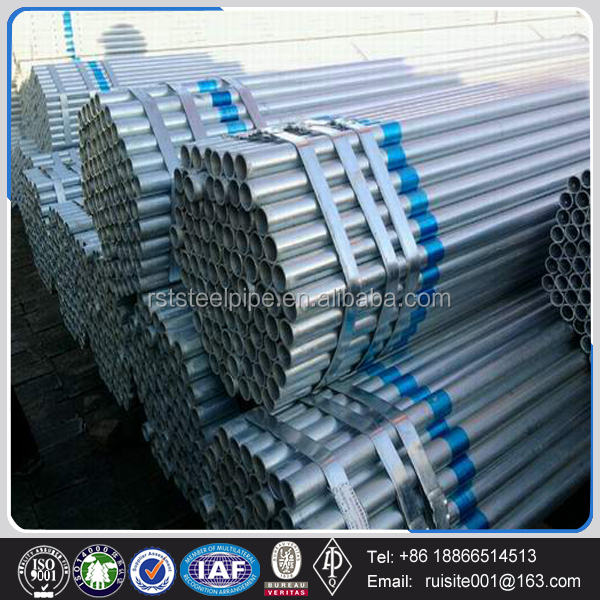cheap 12 foot q235 galvanized steel tube