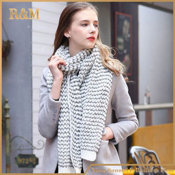 Professional made excellent quality football fan knitting scarf 2016