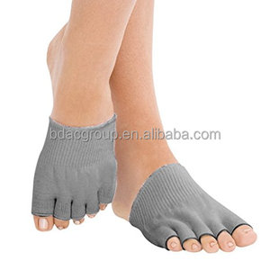 Gel-Lined Heel Pain Relief Compression Toe Separating Socks
