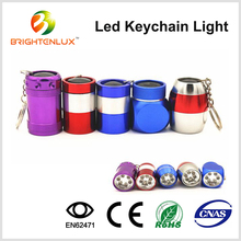 6 led Aluminium Mini led Flashlight Keychain Manufacturer, Promotional led Torch Keychain Wholesale, led Light Keychain in Bulk
