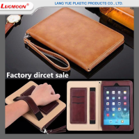 Multi-function Genuine Leather Cases For Apple iPad Mini 1/2/3/4 Flip Cover Cases With Lanyard For iPad