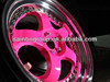 Work Alloy Wheels With Pink Finish For Sale