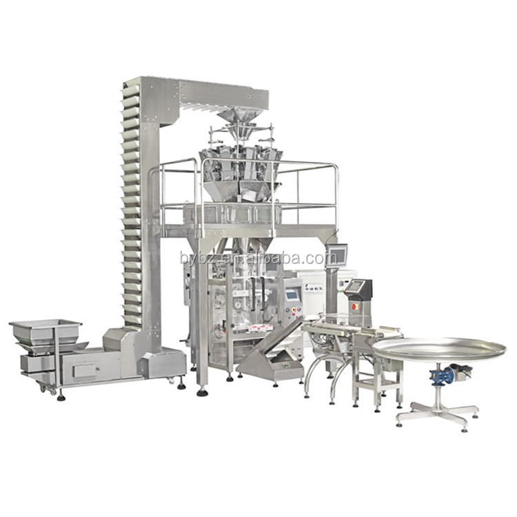 Vertical Granule Packaging Machines YB-720Z 5kgs Sugar sachet automatic filling machine with 10 head quto weigher