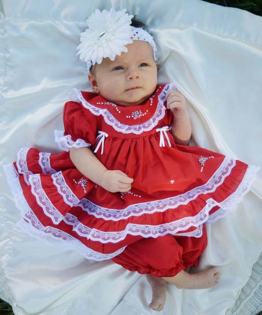 Wholesale fancy carters short sleeve lace trim embroider smocked clothes Baby girl red rompers jumpsuits for kids