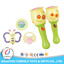 Baby toy musical instruments plastic electric maracas wholesale