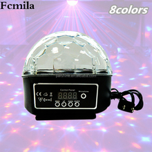 Bluetooth MP3 Crystal Magic Ball Led Stage Lamp KTV Disco Laser Light Party Lights Sound Control Laser Projector Music KTV