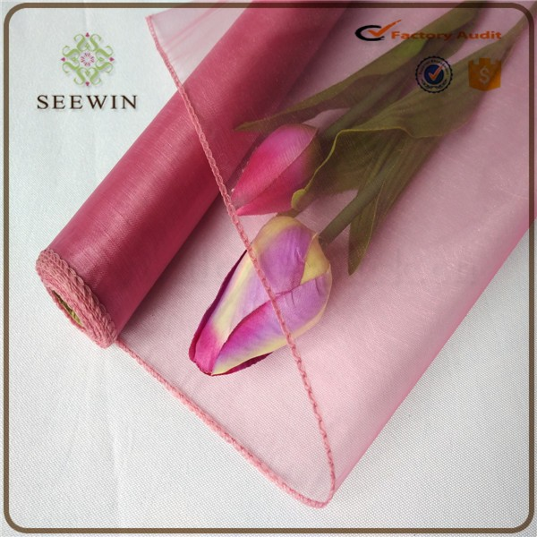Popular colouful organza fabric for wedding , gift ,flower wrapping
