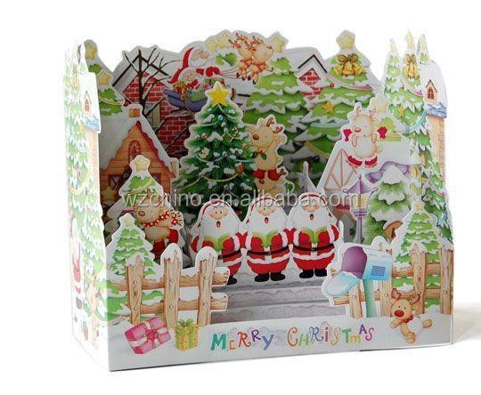 Chirstmas Santa 3D Greeting card