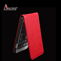 Genuine leather case flip down leather case for iphone 6