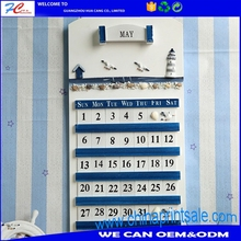 Hot sale unique design office wall wooden handcrafts calendar