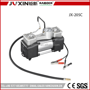 DC 12V 220W double cylinder metal car air compressor