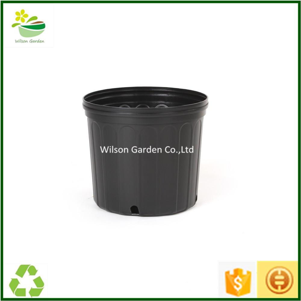 Strong HDPE 1 2 3 5 7 10 14 15 20 gallon grow pots plastic pot nursery wholesale