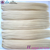 Very Thick Double Drawn Brazilian Wholesale 100 unprocessed dyed silver hair
