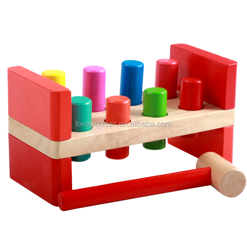 Baby wooden Set timber piles educational toys , EN71/ASTM standard
