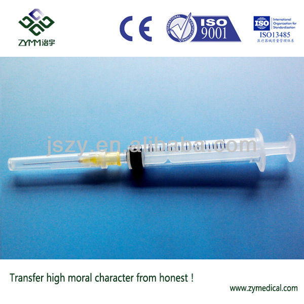Disposable Sterile Syringe Luer Slip 2.5cc( Transparent Plunger)