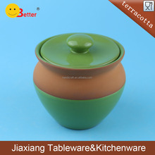 terracotta mini clay cooking pot with lid