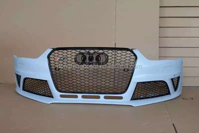 A4 RS4 front body kits RS4 bumper with grill B9 A4 facelift