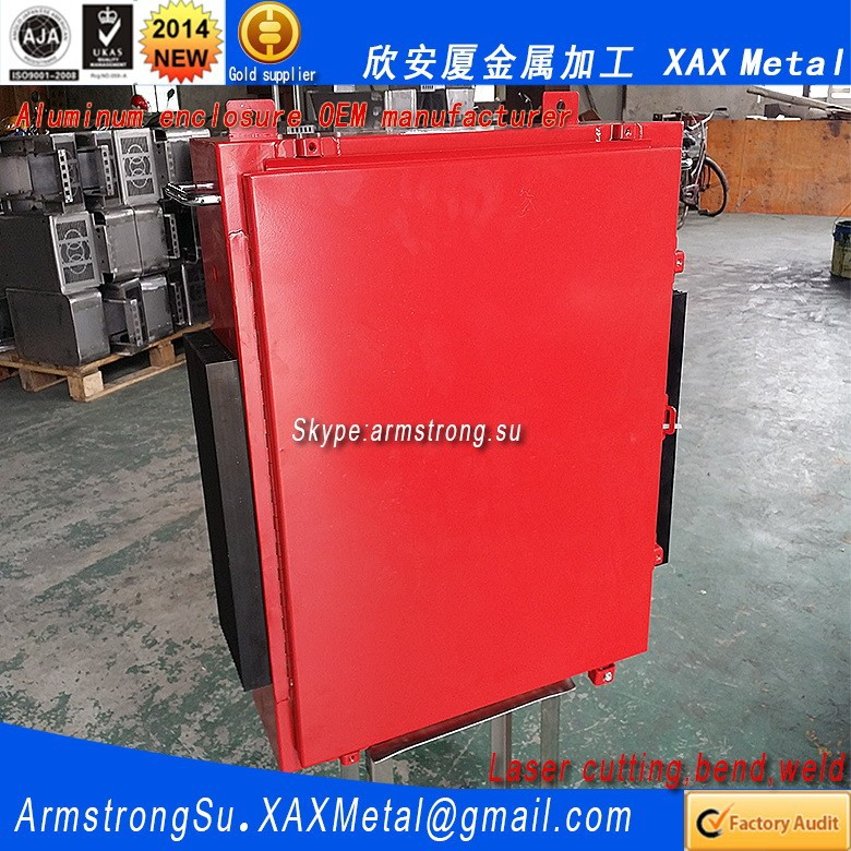 XAX289Alu OEM ODM customized laser cut bend weld sheet aluminum alloy diamond hole perforated metal panel box