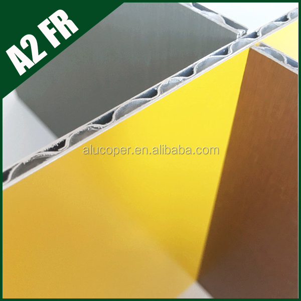innovative architecture ACP aluminum wave core panel , for furture choice , A2 class fireproof and PVDF coating
