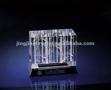 3D laser crystal cube could as flower vase